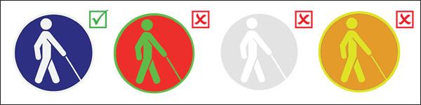 Príklady vhodného a nevhodného použitia farebných kombinácií