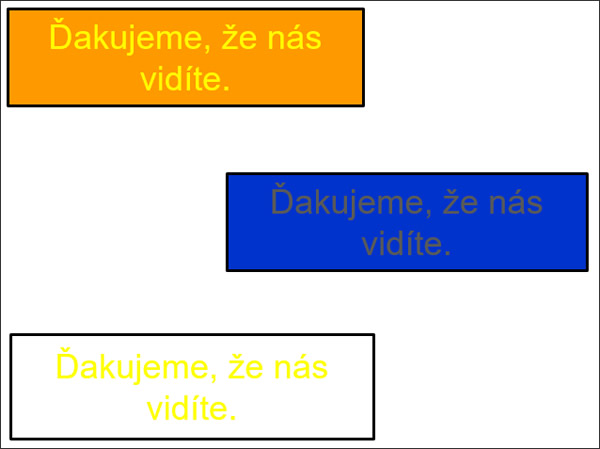 Príklady zlého kontrastu textu a pozadia